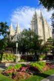 Tempel van de Kerk van Jesus Christ van laatstgenoemde-Dagheiligen in Zout Stock Afbeelding