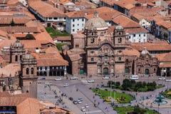 Tempel van de Maatschappij van Jesus Church Cusco Peru royalty-vrije stock foto