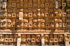 Tempel van de Maskers, Kabah, Mexico stock foto