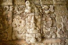 Tempel van de Maskers in Kohunlich Mexico Stock Foto