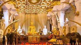 Tempel van de Tand in Kandy, Sri Lanka royalty-vrije stock foto