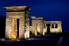 Tempel van Debod - Close-up Stock Foto