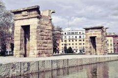 Tempel van Debod in Madrid Stock Foto