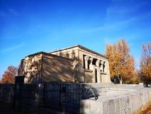 Tempel van Debod in Madrid Egyptantempel stock afbeelding