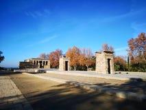 Tempel van Debod in Madrid Egyptantempel stock fotografie