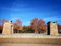 Tempel van Debod in Madrid Egyptantempel stock foto
