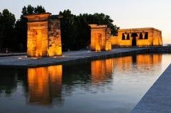 Tempel van Debod, Madrid, Spanje Stock Foto's