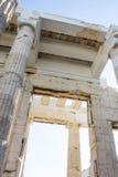 Tempel van dichte omhooggaand van Athena Nike Stock Foto