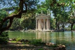 Tempel van Esculapio Stock Foto