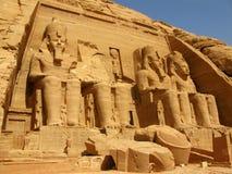 Tempel van Farao Ramses II in Abu Simbel, Egypte Stock Afbeelding