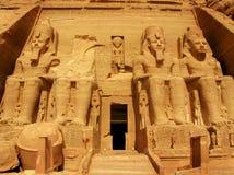 Tempel van Farao Ramses II in Abu Simbel, Egypte Stock Foto's