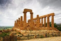 Tempel van Giunone - Sicilië Royalty-vrije Stock Foto's