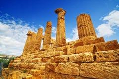 Tempel van Giunone - Sicilië Royalty-vrije Stock Afbeelding
