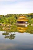 Tempel van Gouden Pavillion (kinkaku-ji), Kyoto, Japan Stock Foto's