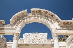 Tempel van Hadrian in de Oude Stad van Ephesus Royalty-vrije Stock Afbeeldingen