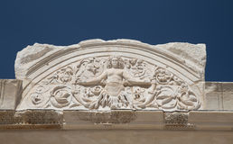 Tempel van Hadrian in de Oude Stad van Ephesus Stock Afbeeldingen