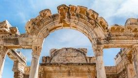 Tempel van hadrian Ephesus, Turkije Royalty-vrije Stock Afbeeldingen