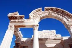 Tempel van Hadrian, Ephesus, Turkije, Royalty-vrije Stock Foto's