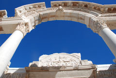 Tempel van Hadrian, Ephesus, Turkije, Stock Fotografie