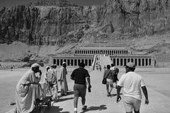 Tempel van Hatshepsut, Egypte, Oktober, 2002 stock afbeeldingen