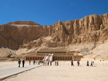 Tempel van Hatshepsut in Luxor Stock Afbeeldingen