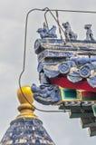 Tempel van Hemel Architecturale details van het dak Stock Foto