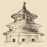 Tempel van Hemel, stadsarchitectuur Stock Afbeelding