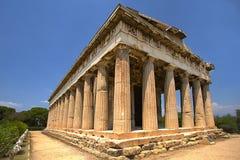 Tempel van Hephaestus in Athene, Griekenland Royalty-vrije Stock Foto's