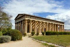 Tempel van Hephaestus, Athene, Griekenland Stock Afbeelding