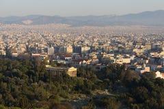 Tempel van Hephaestus, Athene, Griekenland Royalty-vrije Stock Afbeelding