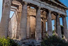 Tempel van Hephaestus, Athene, Griekenland Stock Fotografie