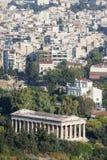 Tempel van Hephaestus in Griekenland Royalty-vrije Stock Foto's
