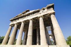 Tempel van Hephaistos Royalty-vrije Stock Afbeelding