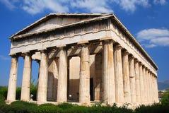 Tempel van Hephaistos (van Hephaestus), Athen in Griekenland Royalty-vrije Stock Afbeelding