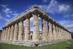 Tempel van Hera in Paestum, Italië Stock Afbeelding
