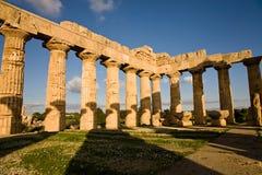 Tempel van Hera, Selinunte, Sicilië Stock Afbeelding