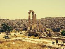 Tempel van Hercules in Amman royalty-vrije stock afbeelding