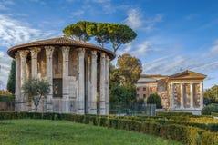 Tempel van Hercules Victor, Rome stock foto