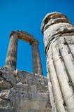 Tempel van het detail van Apollo stock foto