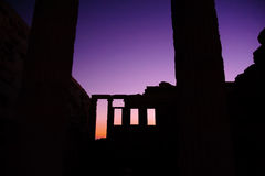 Tempel van het Erechtheion de binnennoorden Royalty-vrije Stock Foto's