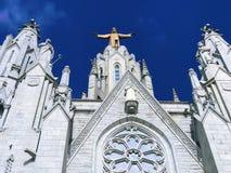 Tempel van het heilige hart van Jesus stock afbeeldingen