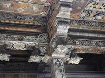 Tempel van het heilige tandoverblijfsel Sri Dalada Maligawa in Kandy, Sri Lanka De Boeddhistische die tempel van detailsoverblijf royalty-vrije stock afbeeldingen