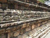 Tempel van het heilige tandoverblijfsel Sri Dalada Maligawa in Kandy, Sri Lanka De Boeddhistische die tempel van detailsoverblijf stock afbeelding