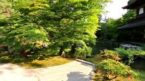 Tempel van het Zilveren Paviljoen Ginkaku -ginkaku-ji, Kyoto Japan stock video