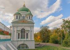 Tempel van John Doopsgezind in Heilig Dormition-mensen` s klooster Sarovskaya Pustyn ` Orthodoxe heilige plaatsen stock foto