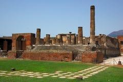 Tempel van Jupiter in Pompei Stock Afbeeldingen