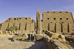 Tempel van karnak Royalty-vrije Stock Afbeeldingen
