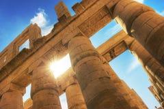 Tempel van Karnak Stock Foto's