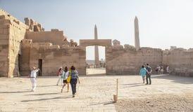 Tempel van Karnak in Luxor, Egypte stock afbeelding