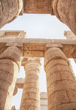 Tempel van Karnak in Luxor, Egypte Stock Foto